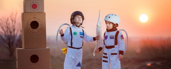 One day our sons will fly to the moon.