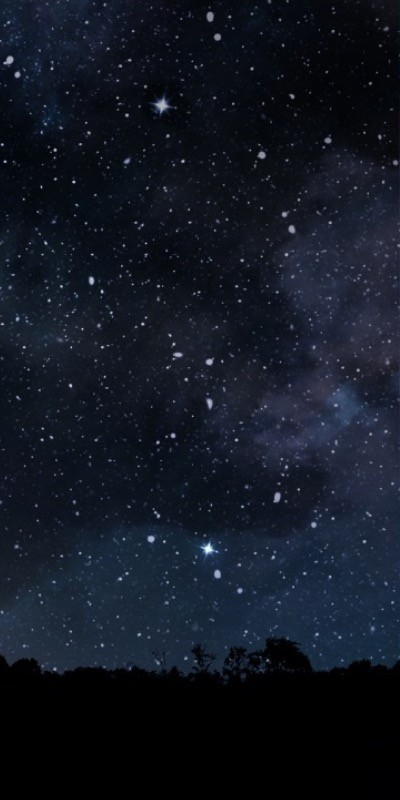 The stars look so much brighter here than they do in the city.