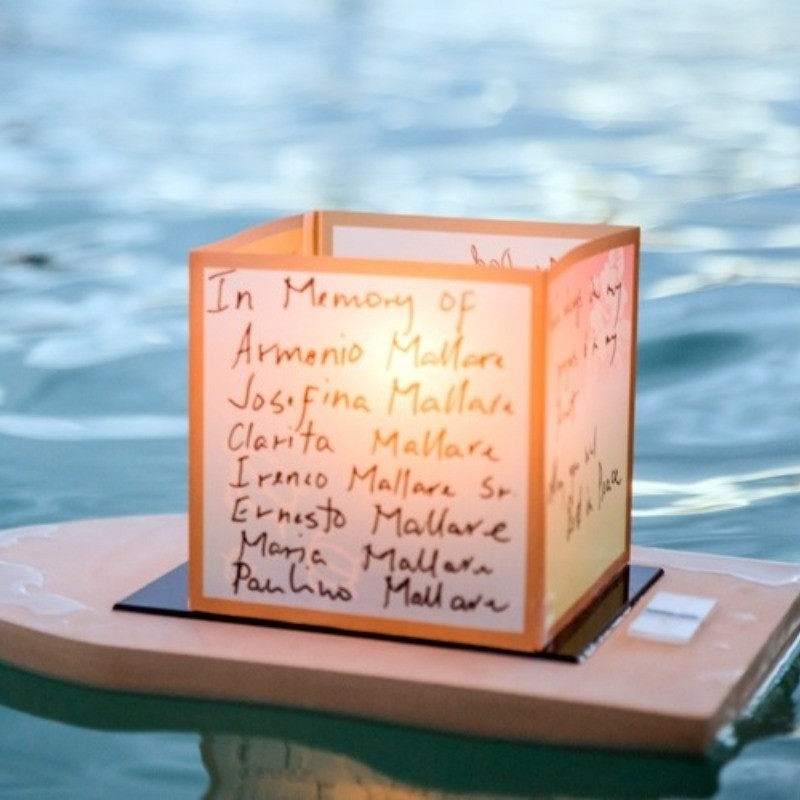 A Floating Lantern In Loving Memory Of...