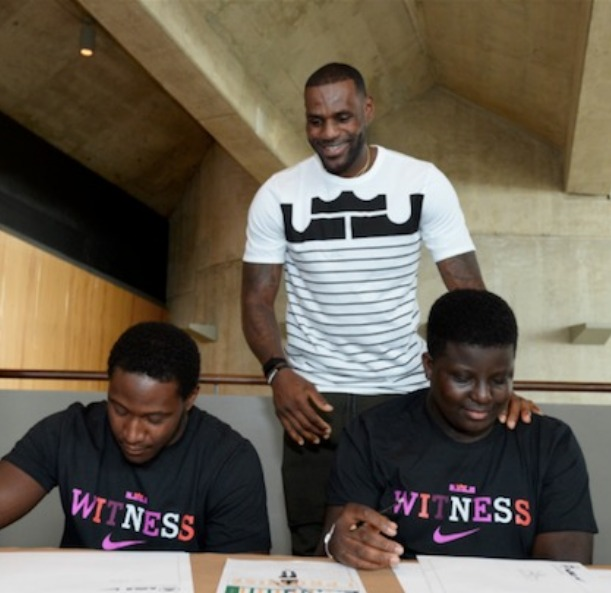 LeBron charity work
