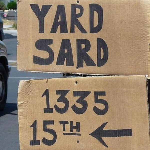 Yard Sale Signs - What Kind of Sign Do I Want?
