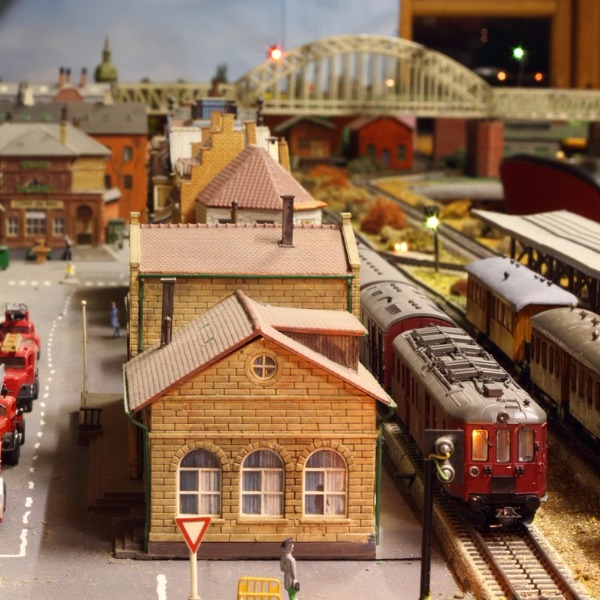 Model trains: not just for kids (my husband's collection is amazing).