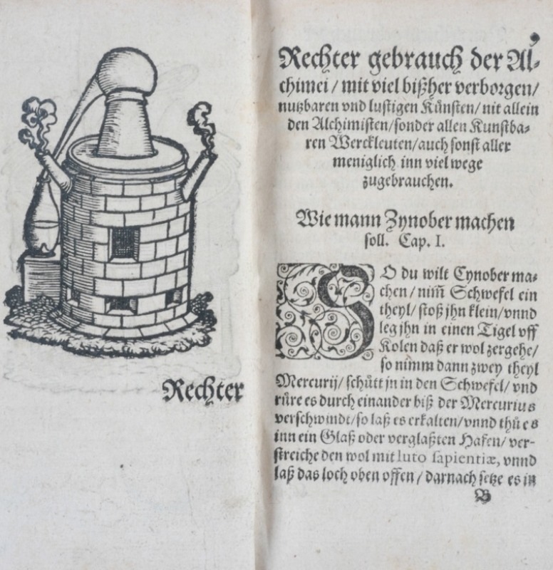 Text from 1570 detailing how to distill cinnabar.