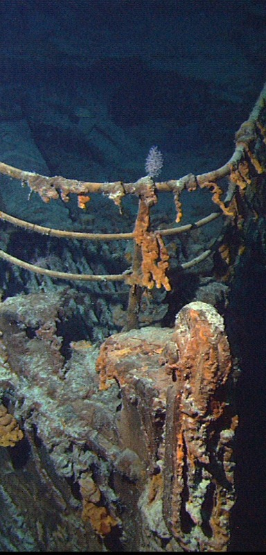 Bow of the Titanic wreck.