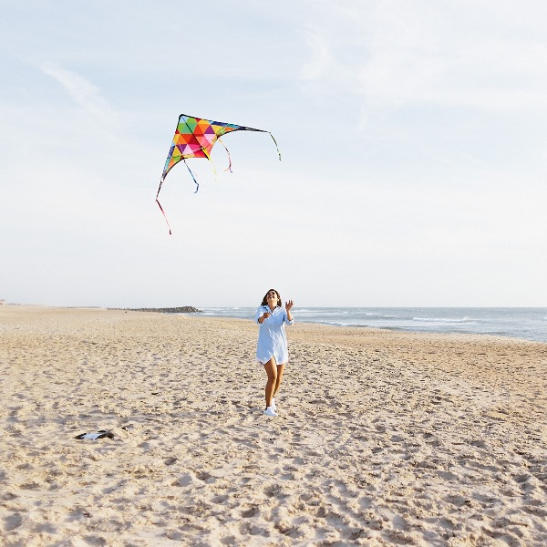 Feel Like A Kid While Kite-Flying On a Quiet Beach