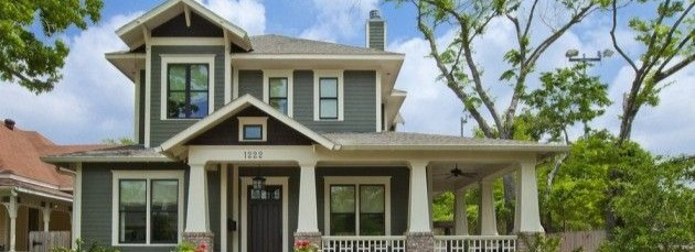 An American craftsman style home.