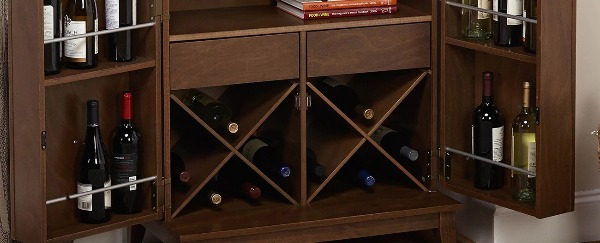 Mommy's wine cabinet (is full of things just for me).