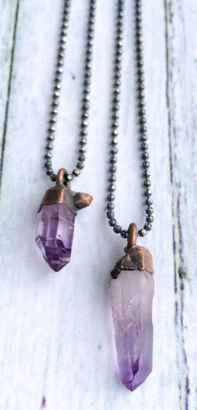 Amethyst can have varying degrees of deep purple hue.