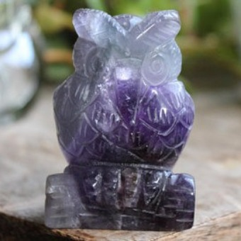 An owl is a fitting figure for this mental-cleansing stone.
