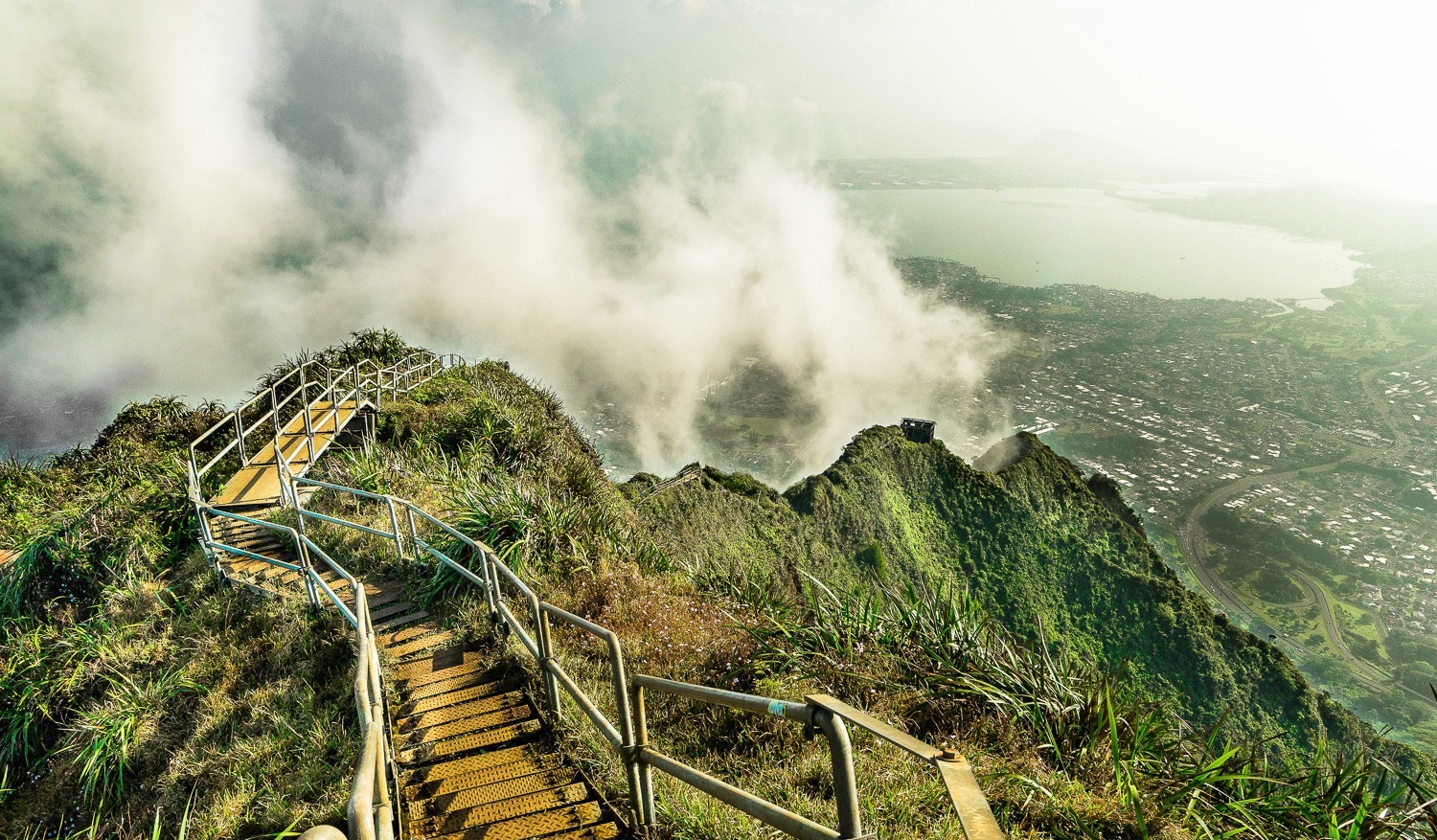 Breathtaking shot of The Stairway to Heaven hike