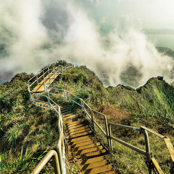 The Stairway to Heaven: an illegal Oahu hike.