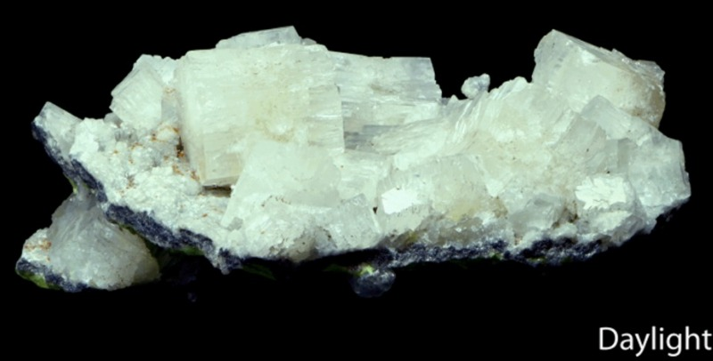 Aragonite in daylight.