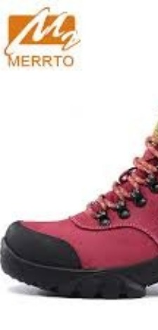 Hiking boots bright pink by Merrto.