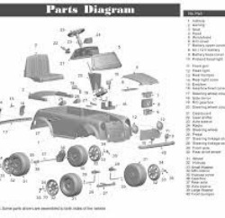 A cute little Mini Cooper parts diagram.