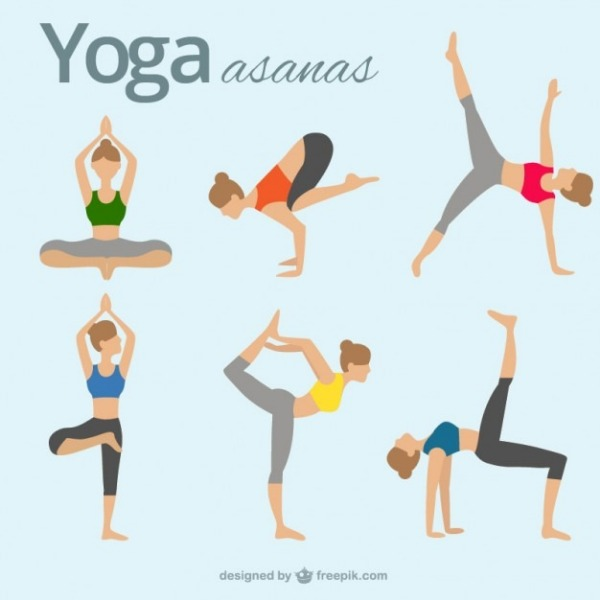 Trying Asana yoga for weight loss.