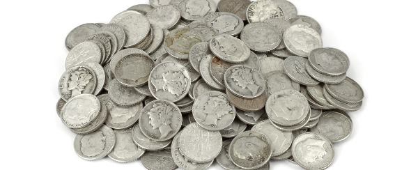 Silver dimes, en mass, can be their own small fortune.