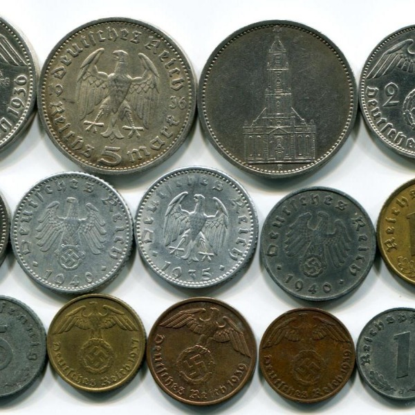 German coins offer a wide variety of historical references.