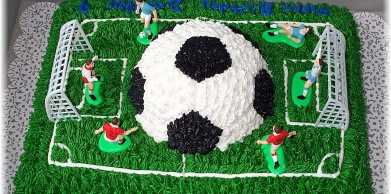 Soccer cake we made Mason for his 9th bday! So proud of it!