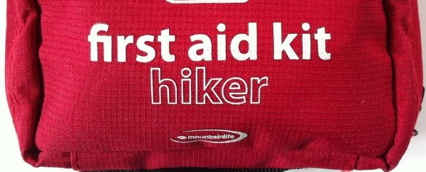 A standard hiker first aid kit