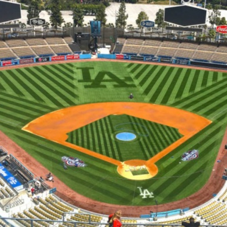 Dodger Stadium (empty).