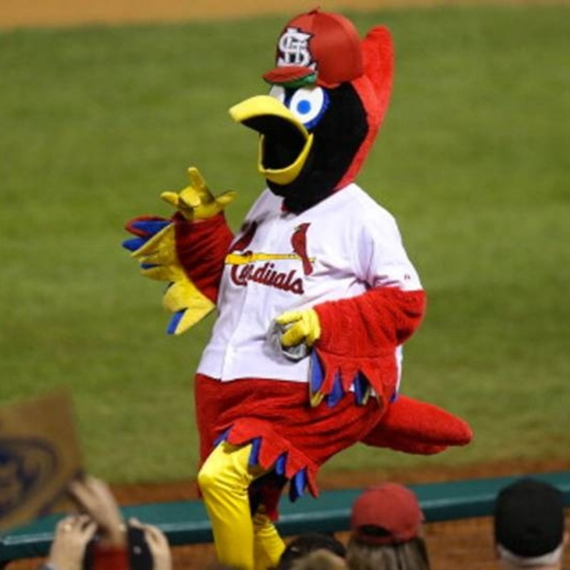 Fredbird, the Cardinals mascot.