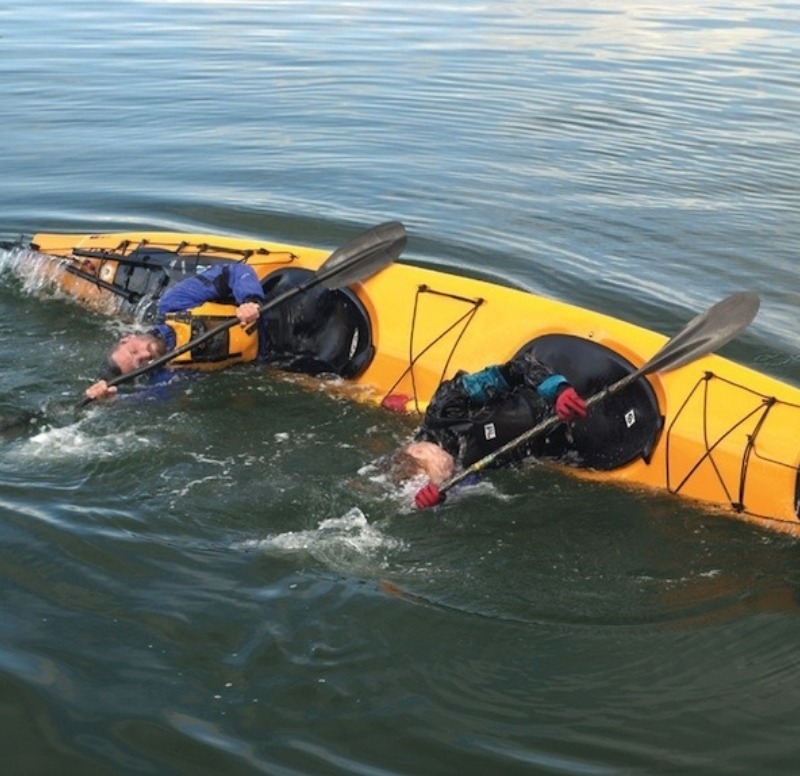 Not us, but don't roll your kayak!
