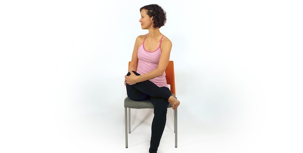 The Chair Pigeon Pose