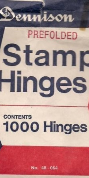 The all-important stamp hinges.