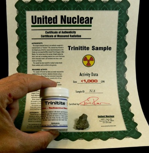 Trinitite can be purchased online.