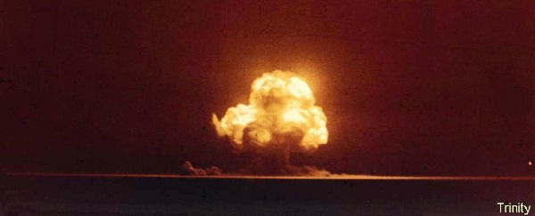 A photo of the Trinity test - July 16th 1945