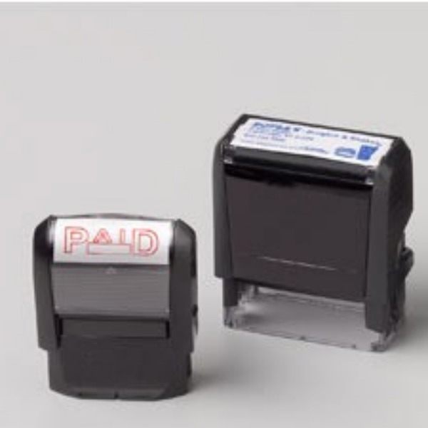 Custom self-inking stamps are a staple in my rubber stamp collection.