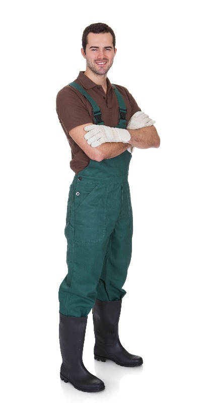 This guy knows what's up with his work overalls