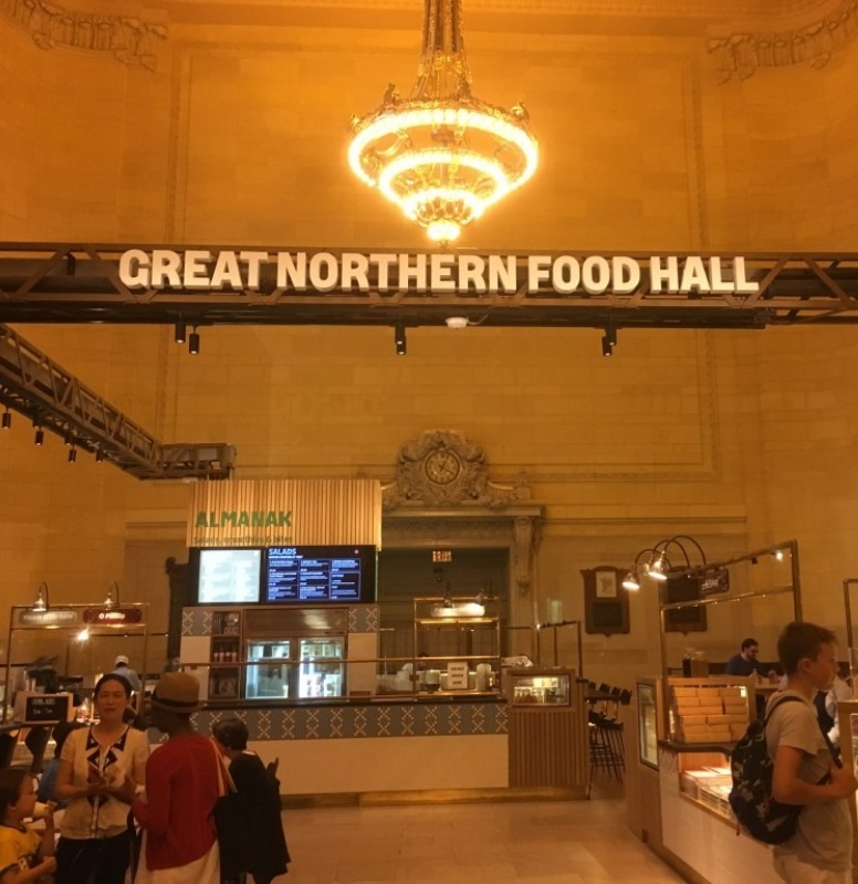 My favorite dining area is the Great Northern Food Hall.
