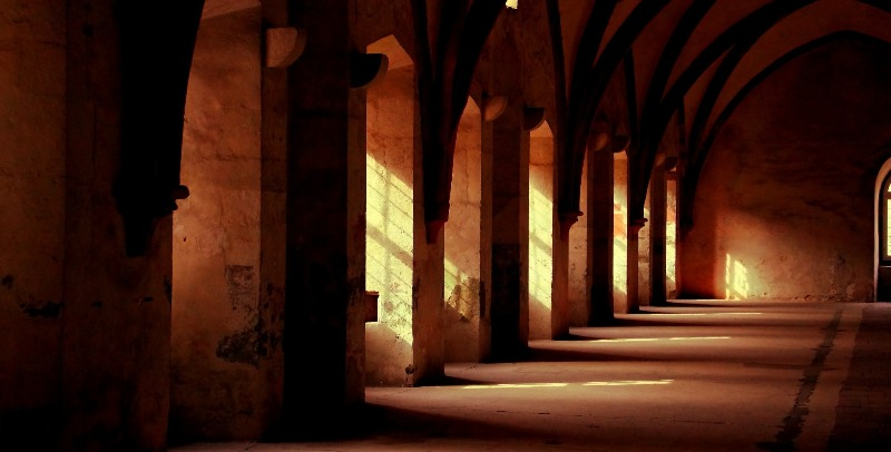 As seen here, many cloisters had windows that allowed natural light in