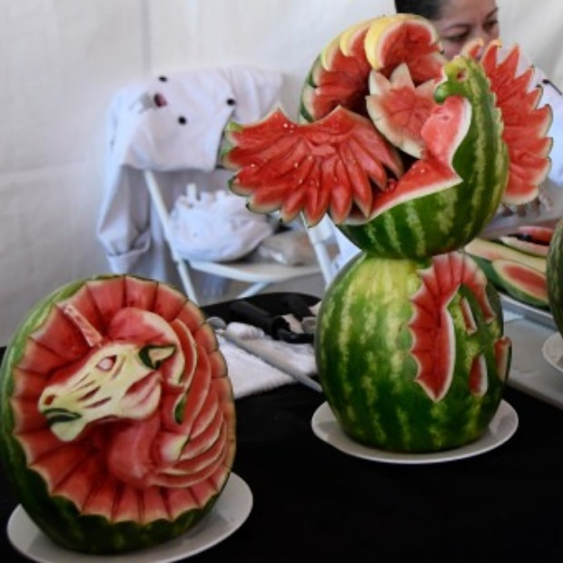Chefs show off their watermelons!