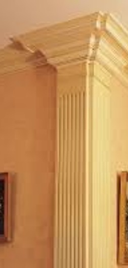 Pilasters in my friend's home!