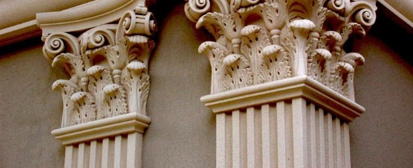 Some amazing work on these pilasters