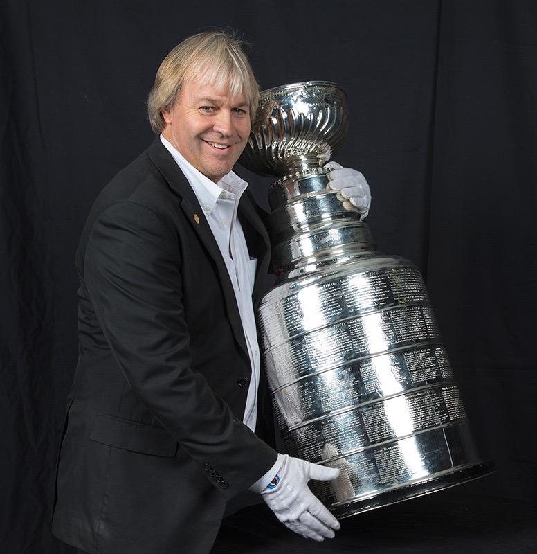Philip Pritchard with the Stanley Cup.